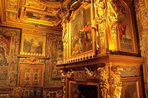 Gilded interior of Chateau de Cheverny