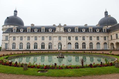 Facade of the Chateau de Valencay