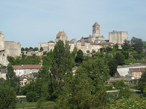 View across Chauvigny to the church
