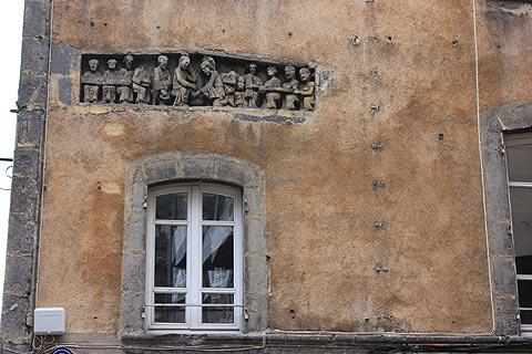 carved detail in ancient house in Clermont-Ferrand