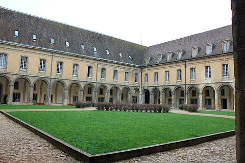 Cloisters in Cluny Abbey