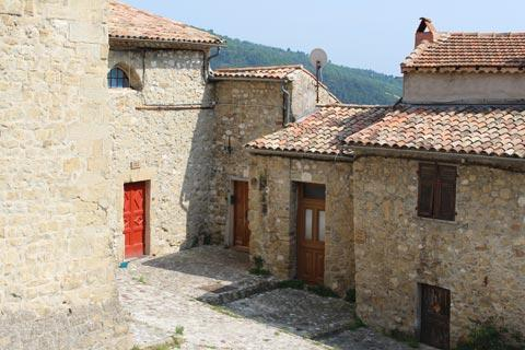 Ancient stone cottages in Coaraze