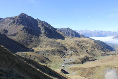 Scenery on the Col du Tourmalet