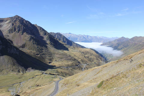 Col du Tourmalet in the pyrenees national park