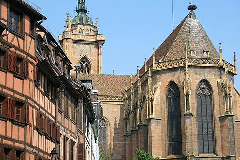 exterior of Colmar cathedral