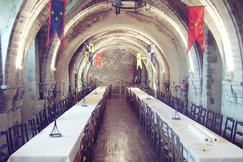 Banquet hall in Creully castle