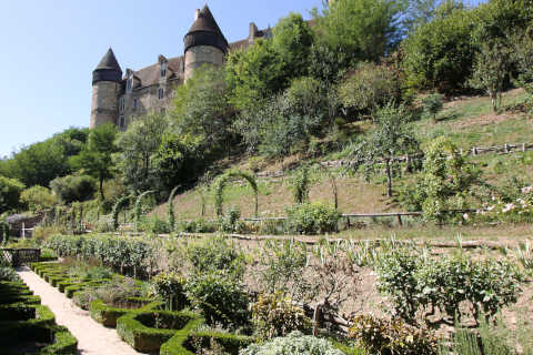 Medieval gardens of the Chateau de Culan