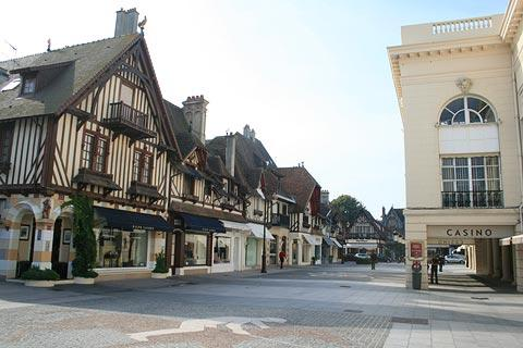 the casino and boutique shopping in Deauville
