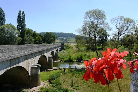 Bridge across the Meuse river in Domremy-la-Pucelle