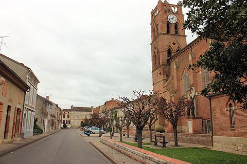 church and clocktower in Donzac
