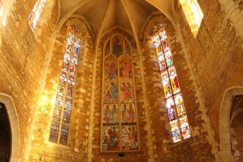 Vitraux de l'autel de la cathédrale Saint-Luperc d'Eauze