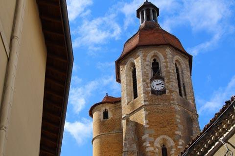 Tour de l'horloge sur l'église d'Eauze
