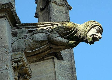 Gargoyle on the facade of the Basilica of Notre Dame de l'Epine