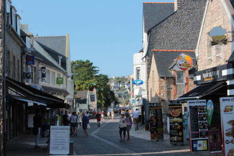 Shopping street in Erquy