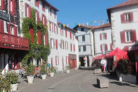 Centre du village d'Espelette