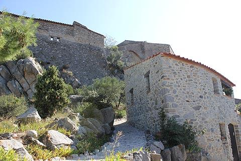 The medieval castle ruins in Eus