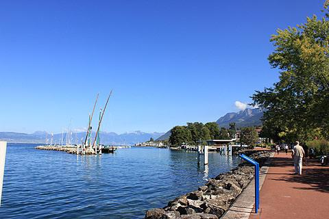lake frontage at Evian