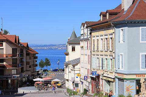 attractive streets in Evian town centre