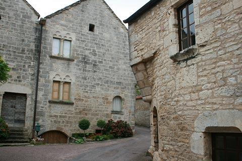 Quiet street in Flavigny village