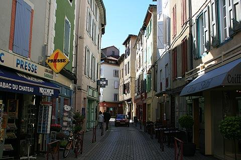 Street in centre of historic Foix