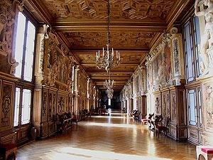 Francois I gallery at Palace of Fontainebleau