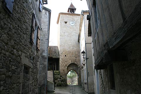 gateway and clocktower in Fourcés