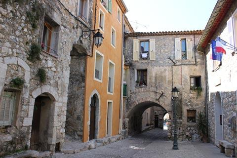 One of the original gateways into Gorbio medieval village