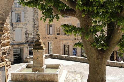Fountain in main square in Gordes