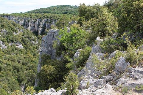 Rocks and cliffs of the Gorges d'Oppedette