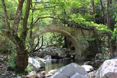 Pont Genoese à Gorges de Spelunca