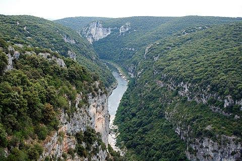 view along the gorges