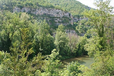 Scenery in Gorges du Tarn