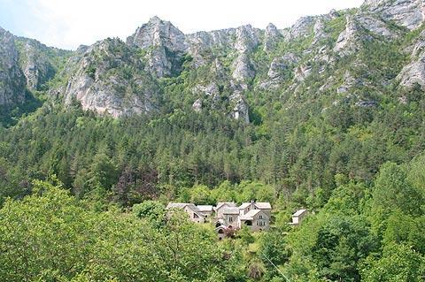View of La Croze village