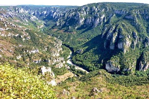View of Gorges du Tarn from Point Sublime