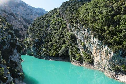 Entrance to the Gorges du Verdon, the Pont de Galetas