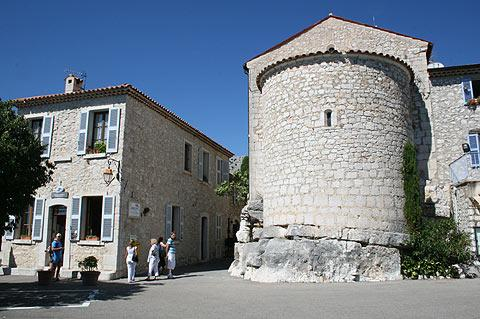 centre of Gourdon village
