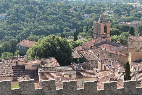 view from Castle in Grimaud