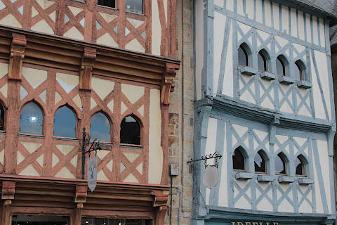 Maisons de colombage au centre de Guingamp