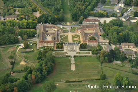 Haras du Pin view from sky