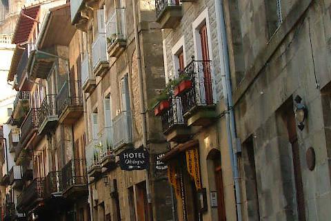 Rue médiévale à Hondarribia