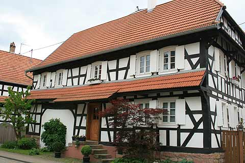 Half-timbered house in Hunspach