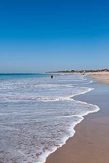 plage de sable sur Ile-de-Ré