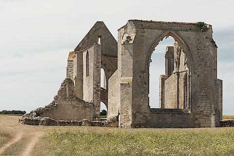 abbey ruins on Ile-de-Ré