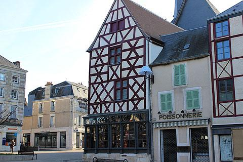 Colombage houses in the centre of Issoudun