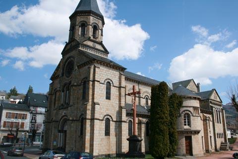 Eglise au centre ville de La Bourboule