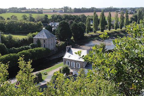 Vue sur la campagne à La Roche-Derrien