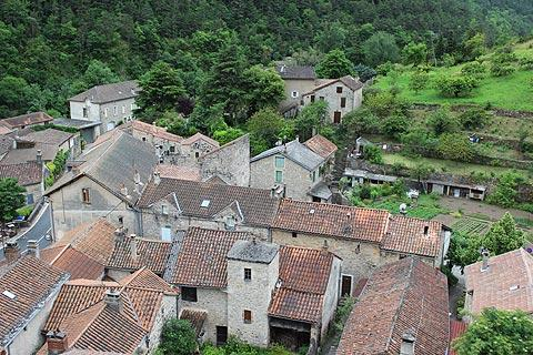 View of La Roque-Sainte-Marguerite from the castle