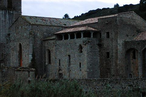 Ancient stone houses in Lagrasse