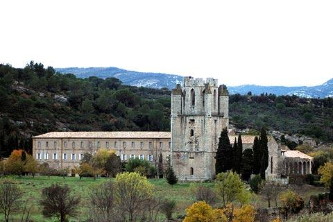 Abbey church in Lagrasse