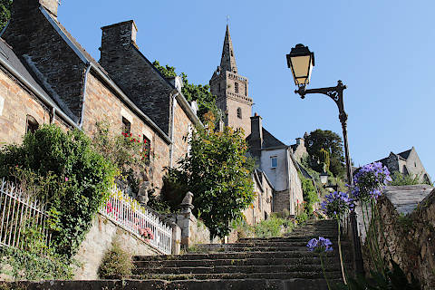 Stairs to the Church of Brelevenez